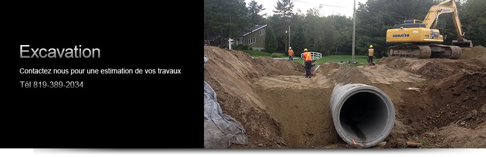 Travaux d'excavation à Victoriaville